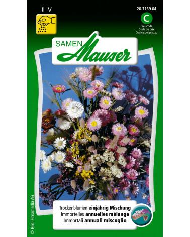 Trockenblumen, Mischung