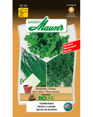 Salatkräuter Bio, Saatmatten