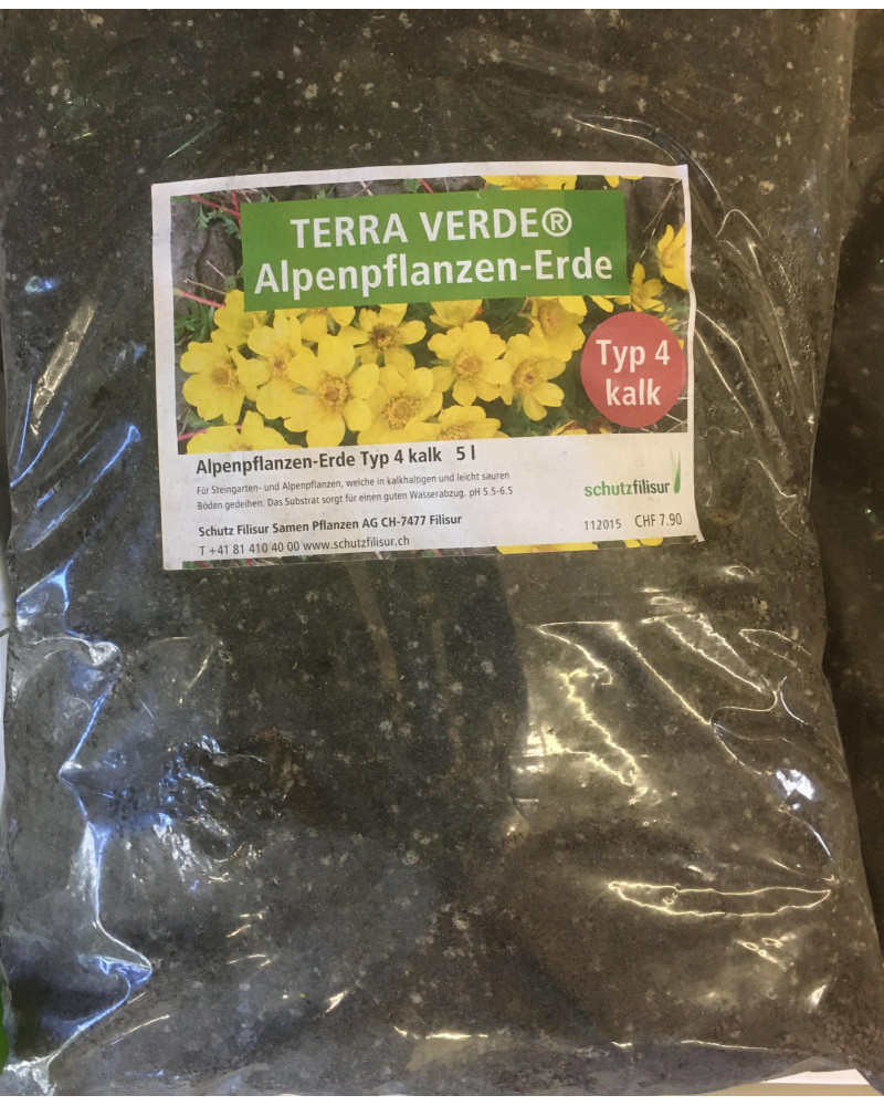 Terra Verde Alpenpflanzenerde Typ 4
