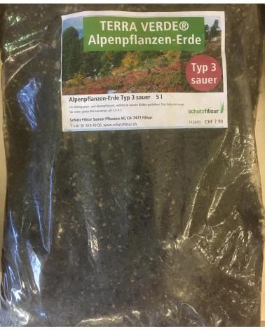 Terra Verde Alpenpflanzenerde Typ 3