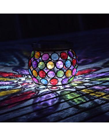 Solarlaterne glühende Juwelen