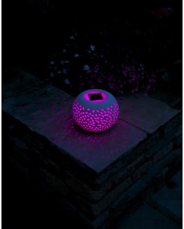 Solarleuchte Keramikkugel filigran